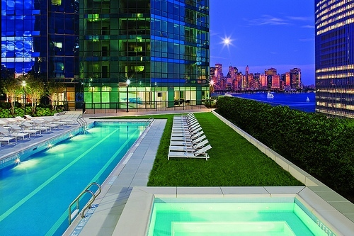 77 Hudson_Night_Pool